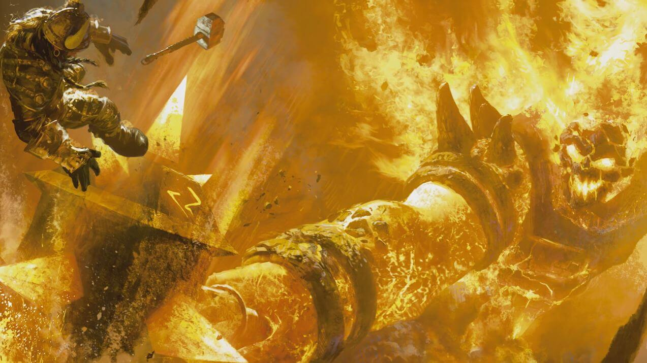 Artwork of Ragnaros in World of Warcraft.
