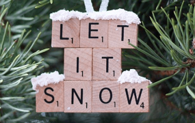 Let it Snow DIY bot scrabble letters