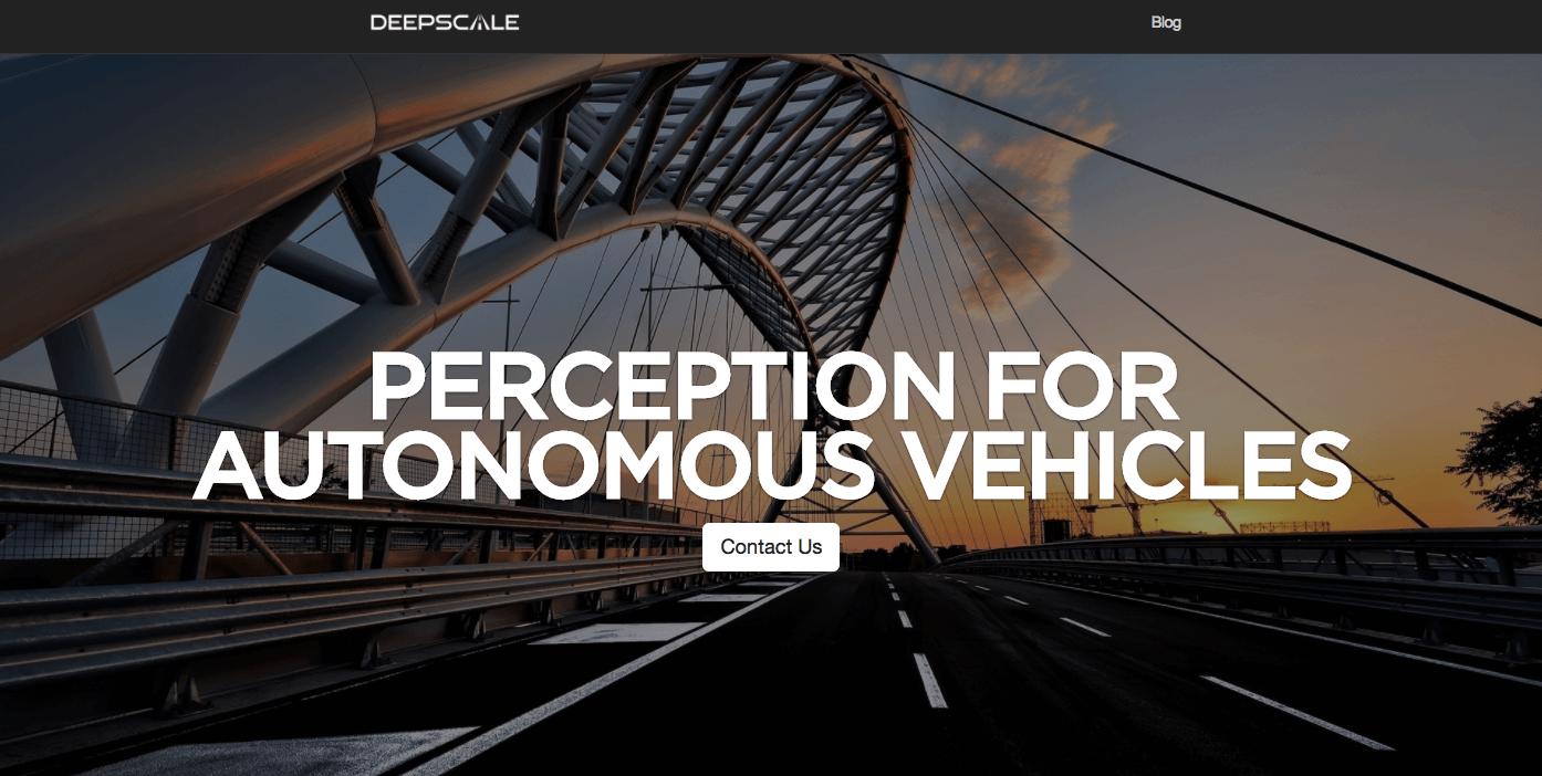 DeepScale homepage