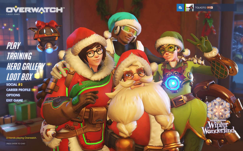 Overwatch is celebrating Christmas.