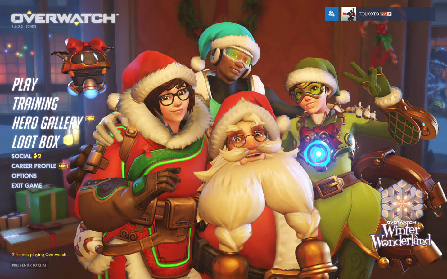 Overwatch is celebrating Christmas.