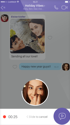 Viber Instant Video Messaging