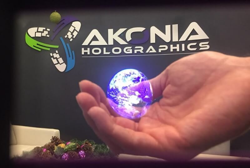 A view of Akonia's holographic capabilities.