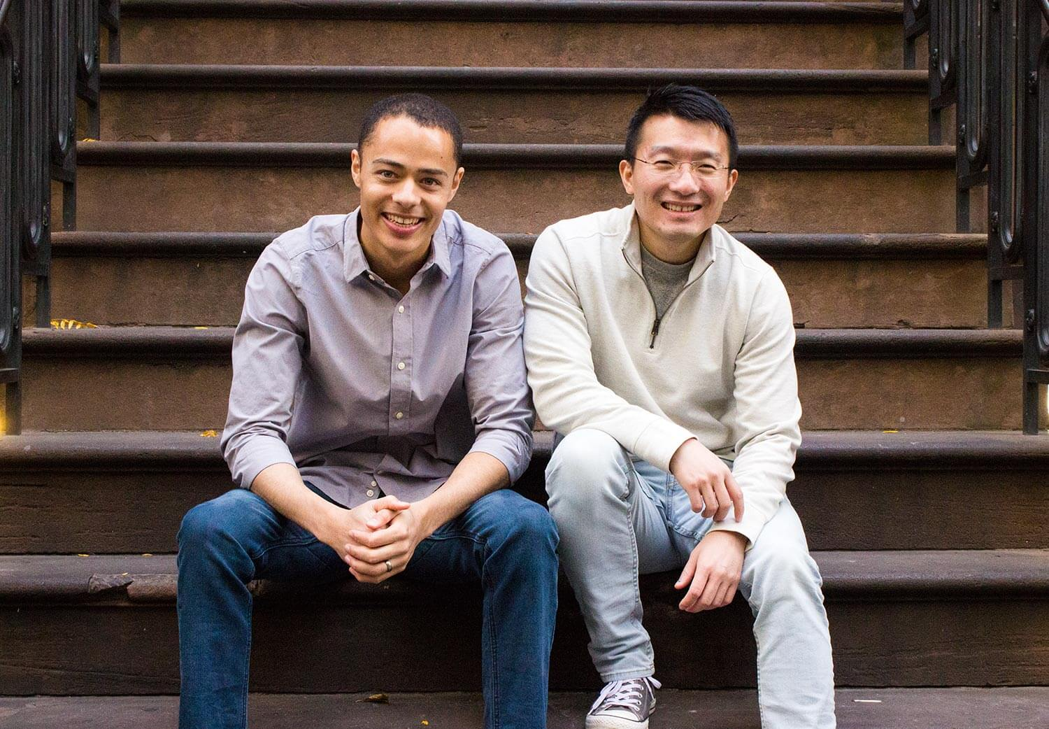 Amino Apps founders Ben Anderson and Yin Wang.