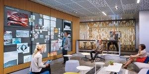 Bluescape enables collaboration across a vast virtual workspace.