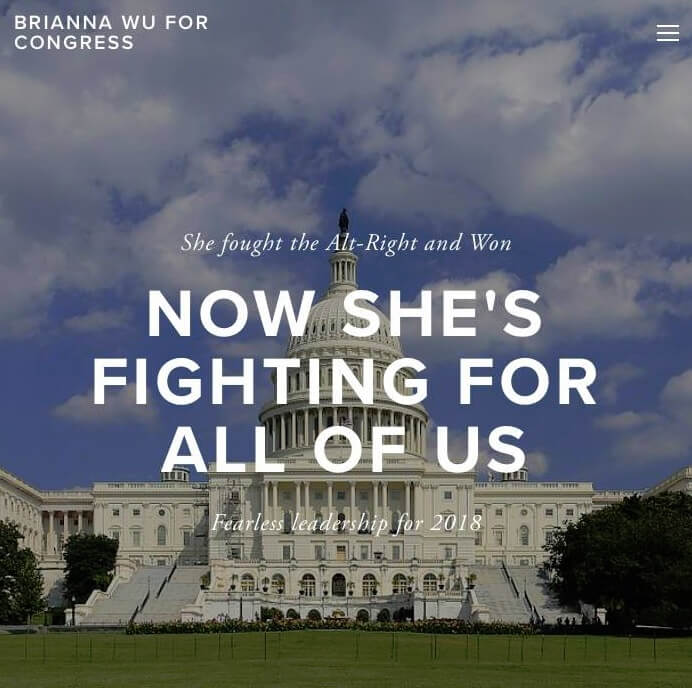 Brianna Wu has decided to run for Congress.