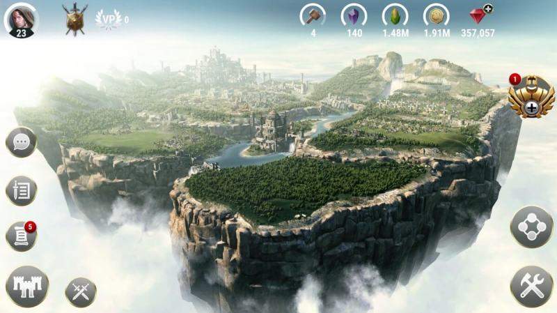 Your kingdom in the sky in Dawn of Titans