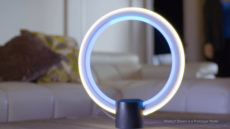 A lamp coming soon from General Electric incorporates Amazon's Alexa
