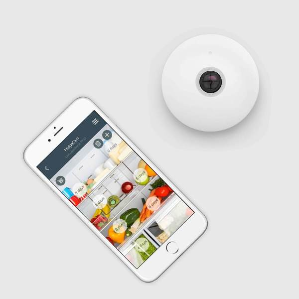 Smarter's FridgeCam notifies you when items are about to expire.