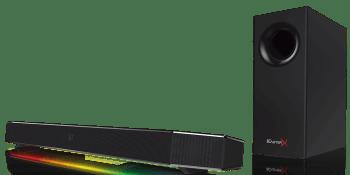 Sound BlasterX Katana speaker system pumps big sound through a small package