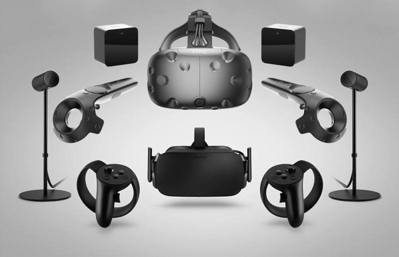 The Vive and Oculus Rift systems.