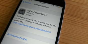 Apple releases iOS 10.2 public beta 7