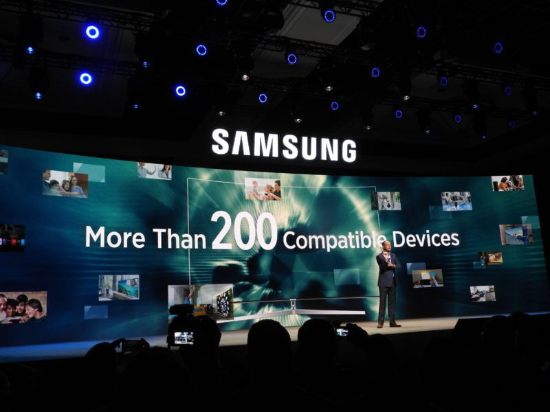 Samsung's Internet of Things had 200 connected objects last year.