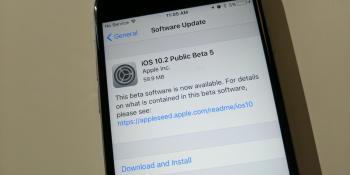 Apple releases iOS 10.2 public beta 5