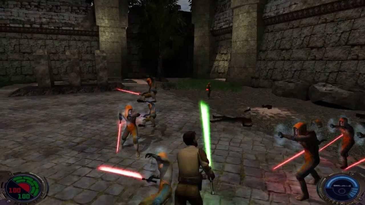 Jedi Outcast did not lack lightsabers.