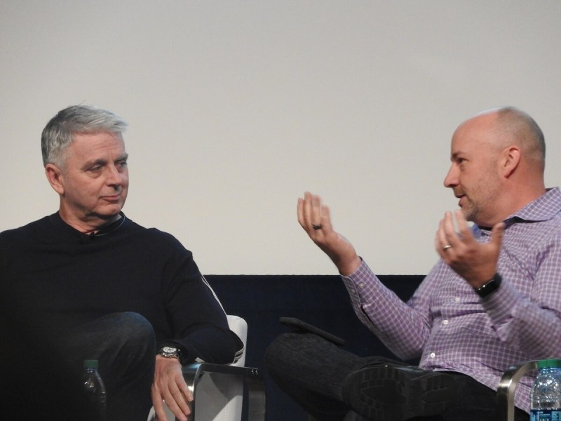 John Riccitiello (left), CEO of Unity Technologies, and Mike Capps, former president of Epic Games.