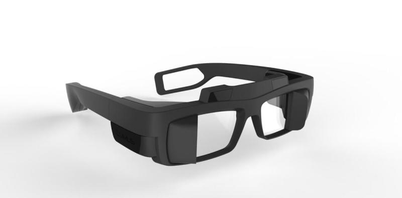 Lumus' augmented reality glasses.