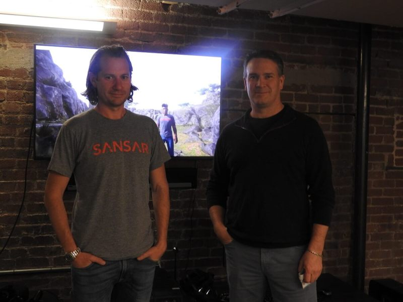Bjorn Laurin (left) and Ebbe Altberg of Linden Lab show off Project Sansar.