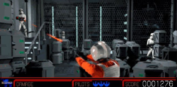 Star Wars: Rebel Assault was an early CD-ROM game that was heavy on the live-action video schlock.