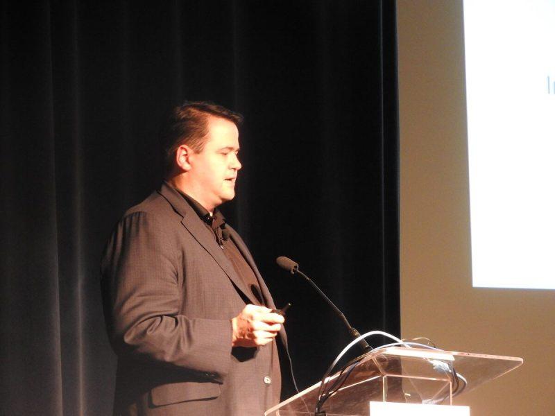 Tim Leland of Qualcomm speaks at VRX.