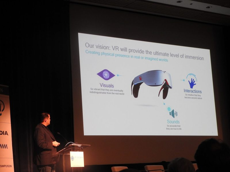 Tim Leland points out Qualcomm's vision for VR at VRX.