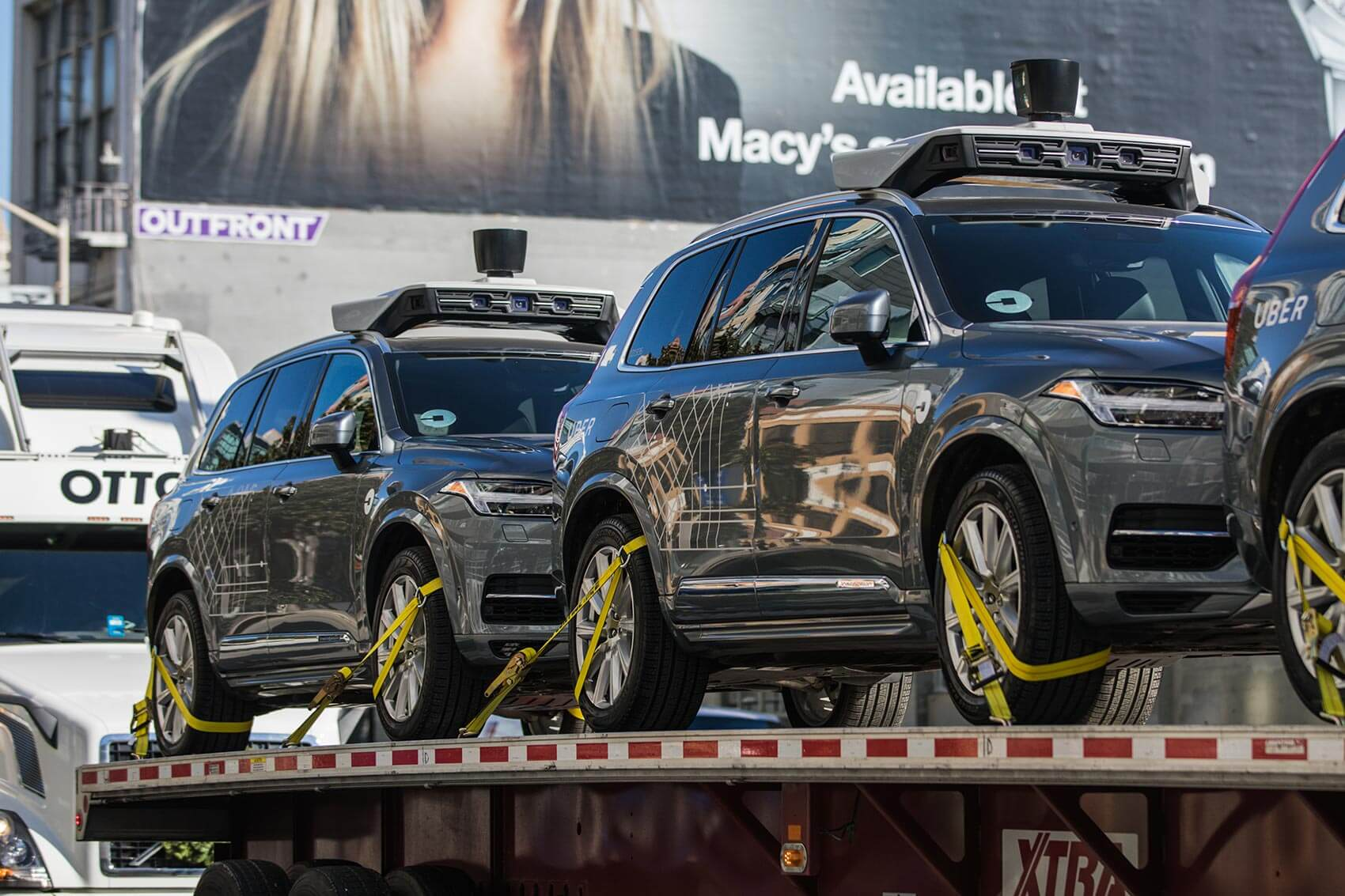 Uber ships its self-driving cars to Arizona after being blocked by California's Department of Motor Vehicles.