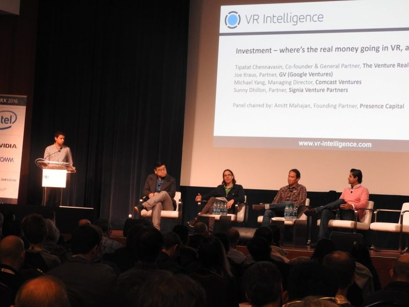 VR investment panel at VRX.