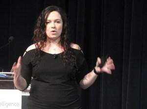 Stephanie Lamas of SuperData at VRX.