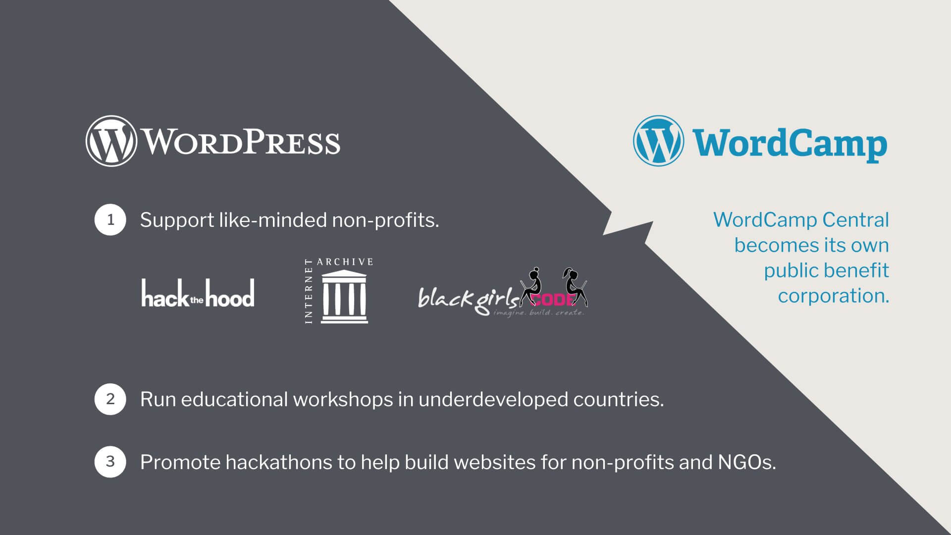 Automattic is transforming WordCamp into a public benefit corporation (PBC) to support like-minded non-profits.