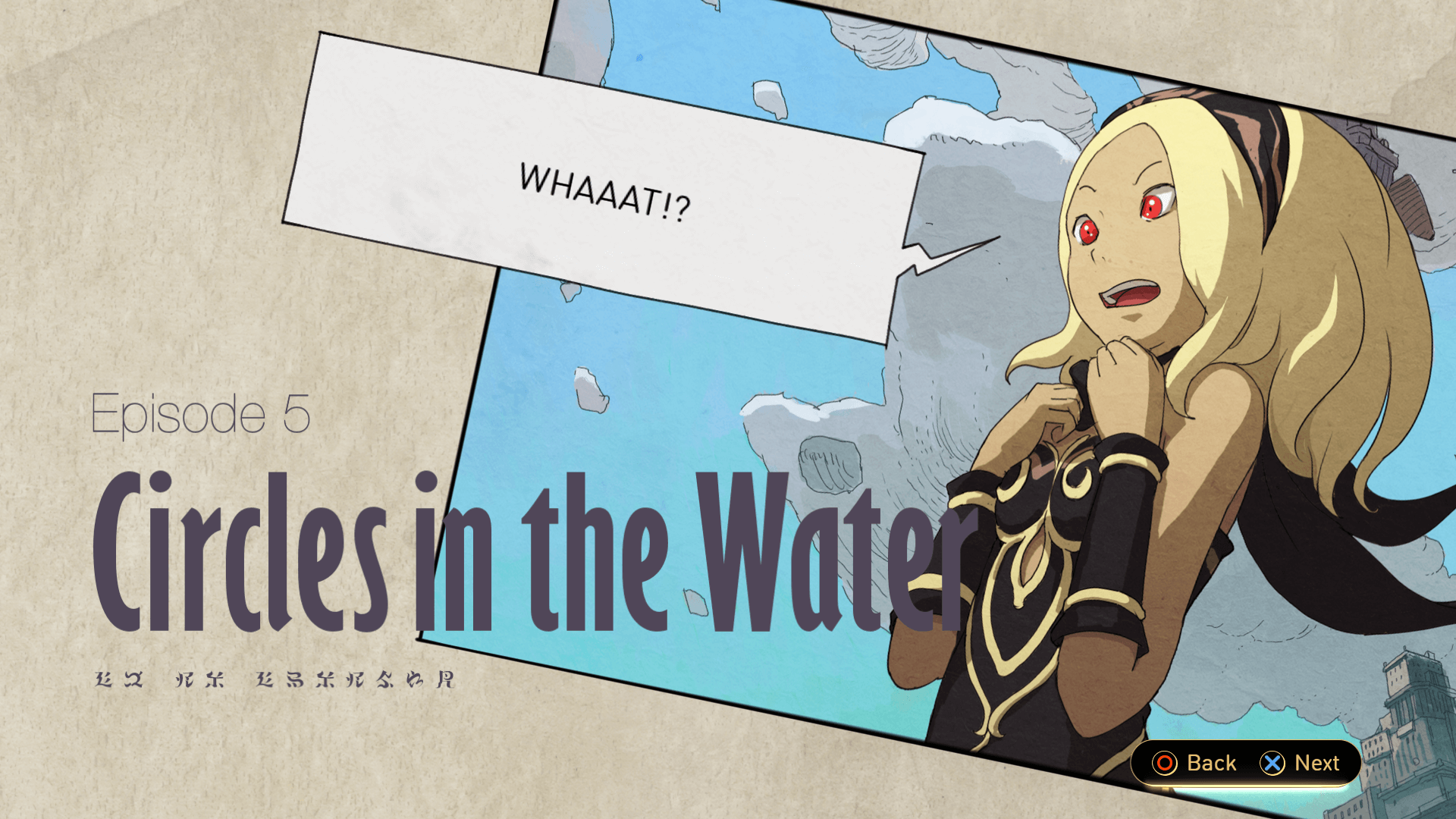 Gravity Rush 2 uses a comic book presentation for most of its cutscenes.