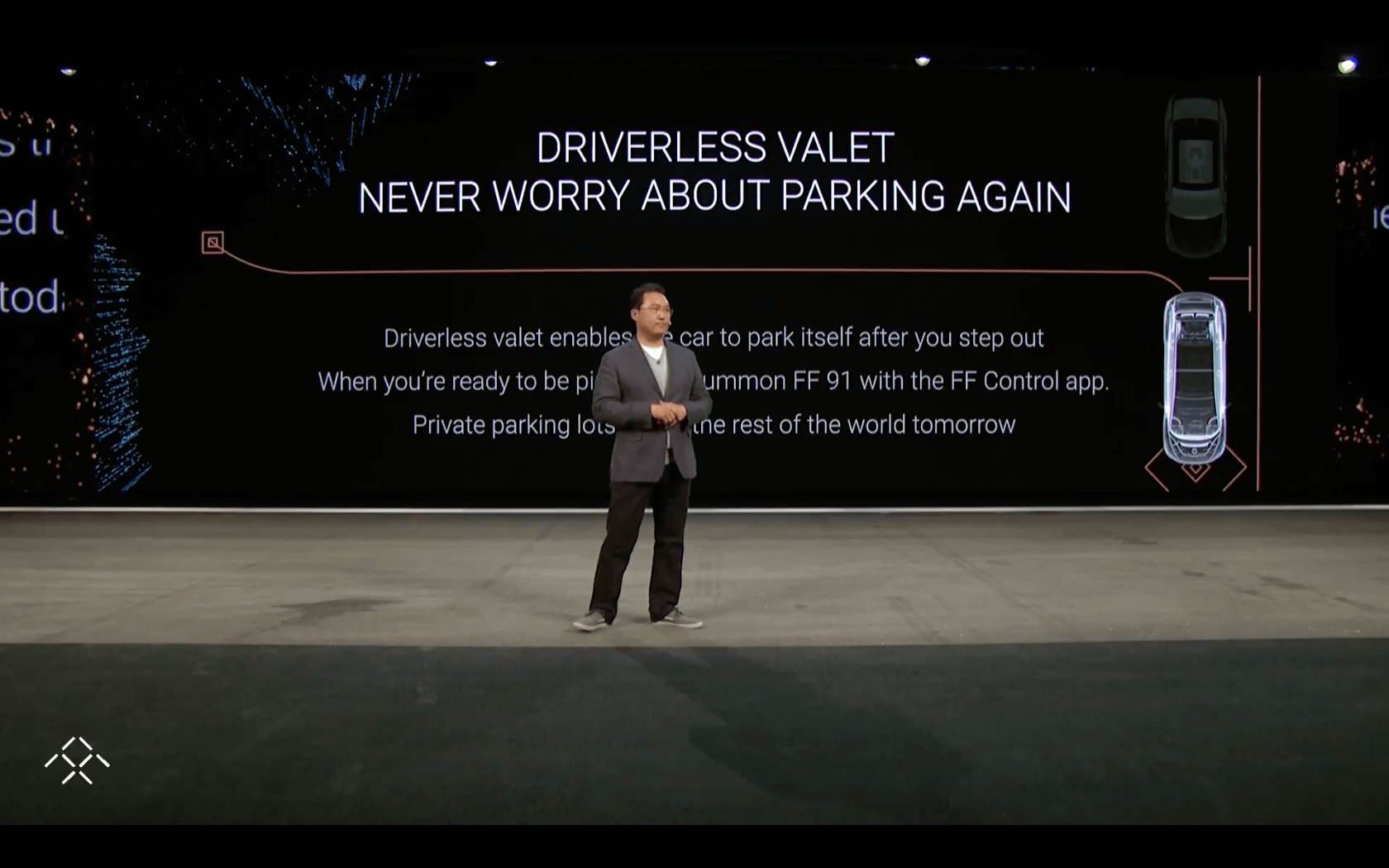 The Faraday Future keynote at the 2017 CES conference in Las Vegas.