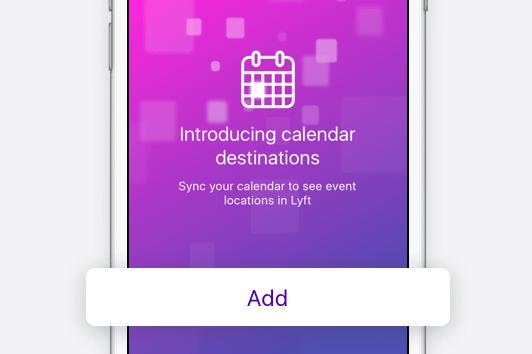 Lyft integrates calendar into app.