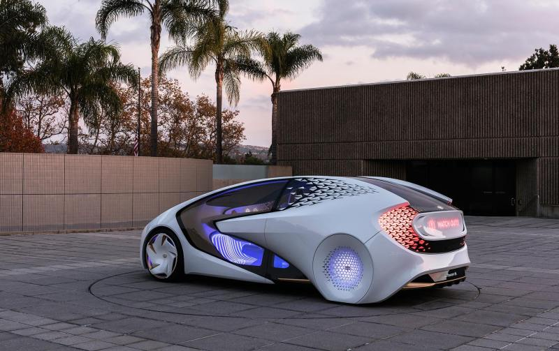 A rendering of Toyota's newest concept car, the Concept-i.