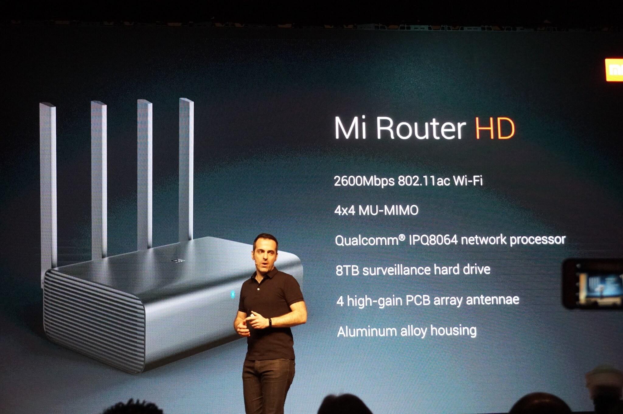 Xiaomi's Hugo Barra introduces the Mi Router HD.
