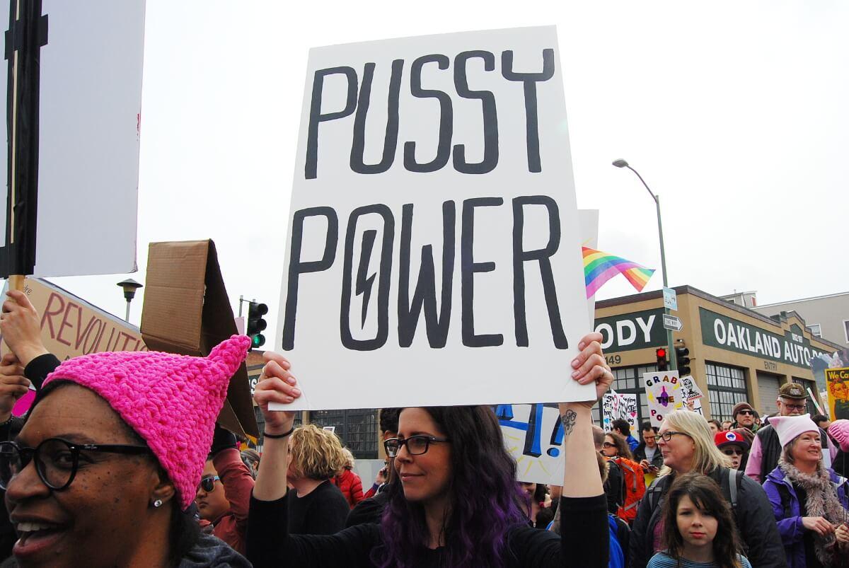 Above Women's March held Jan. 21 2017 in Oakland