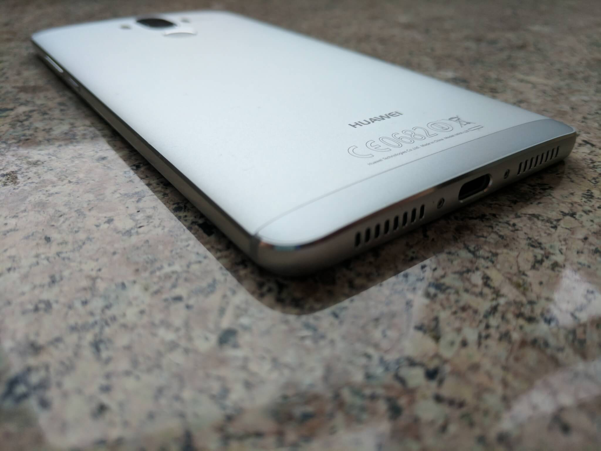 USB-C port on bottom of the Huawei Mate 9.