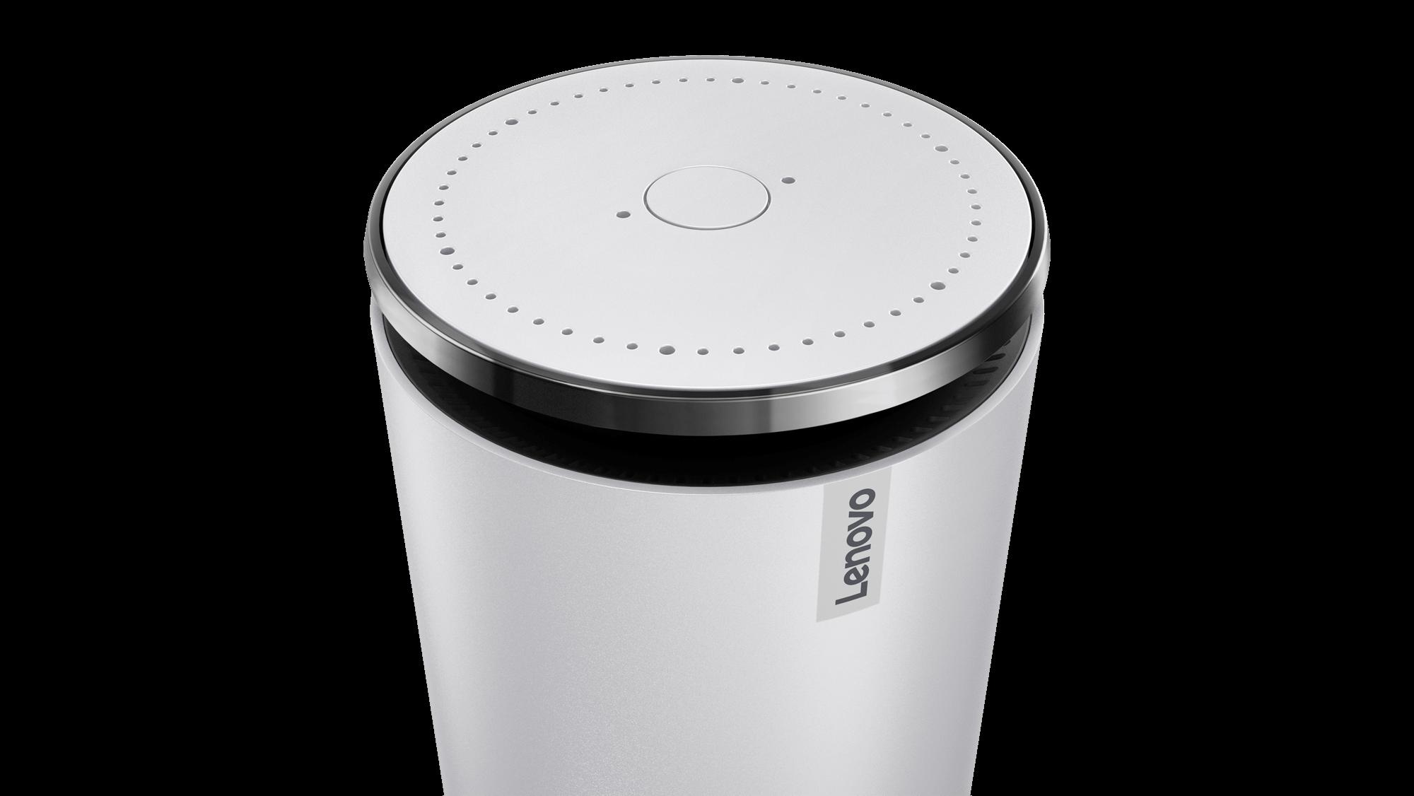 Lenovo Smart Assistant in light gray.