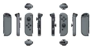 The Joy-Con come in neon red, neon blue, or grey (pictured).