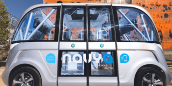 The first self-driving bus on U.S. public streets is carrying passengers in Las Vegas