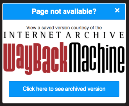 Wayback Machine: Chrome Extension