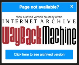 Wayback Machine: Chrome Extension