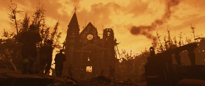 The church scene in Apocalypse Now brought forth a lot of apocalyptic religious imagery.