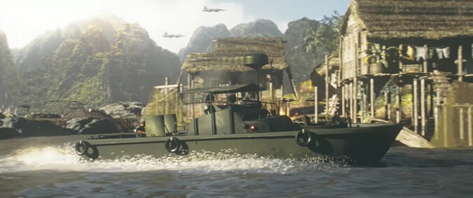 The river patrol boat from Apocalypse Now