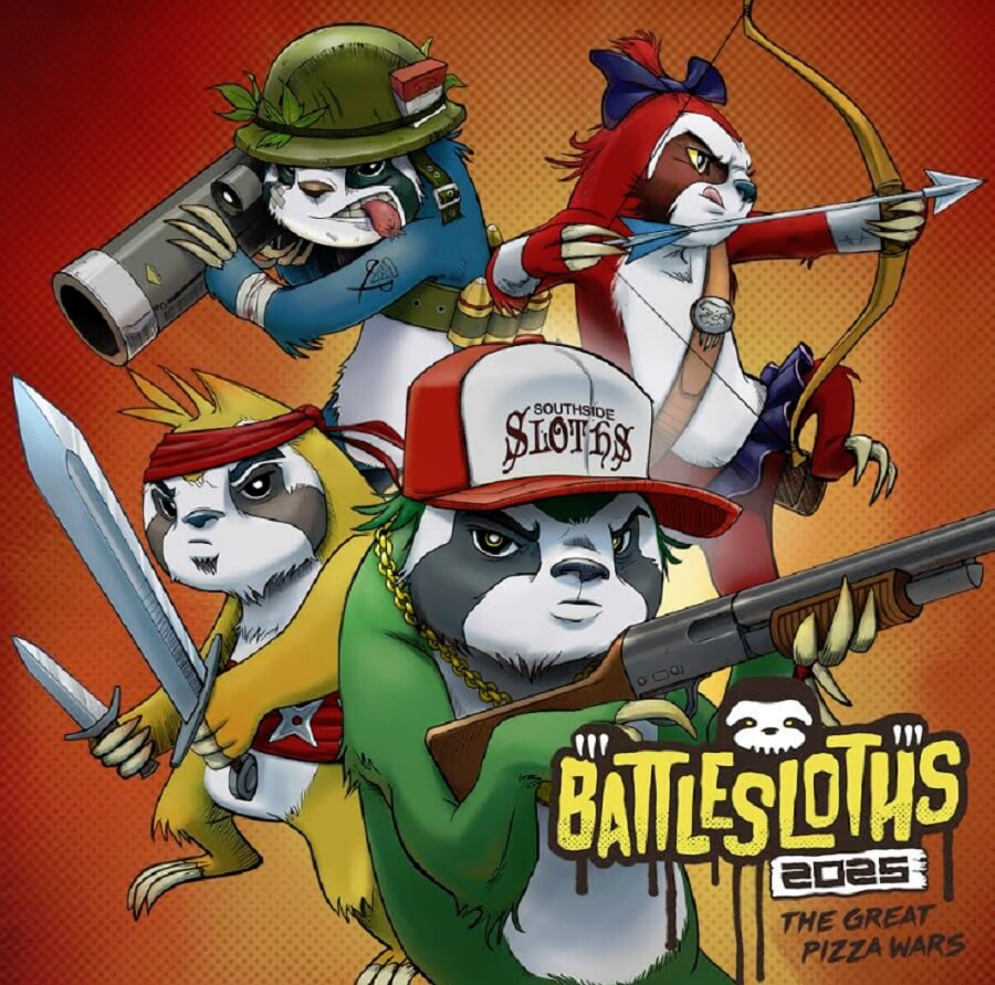 Battlesloths 2025: The Great Pizza Wars