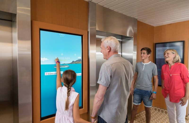 Ocean Medallion lets you interact with interactive displays on a cruise ship.