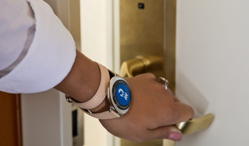 Ocean Medallion wearable can unlock your room on a cruise ship.