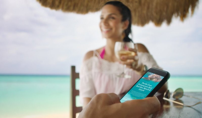 You can interact with Carnival's portal via a smartphone or other devices.