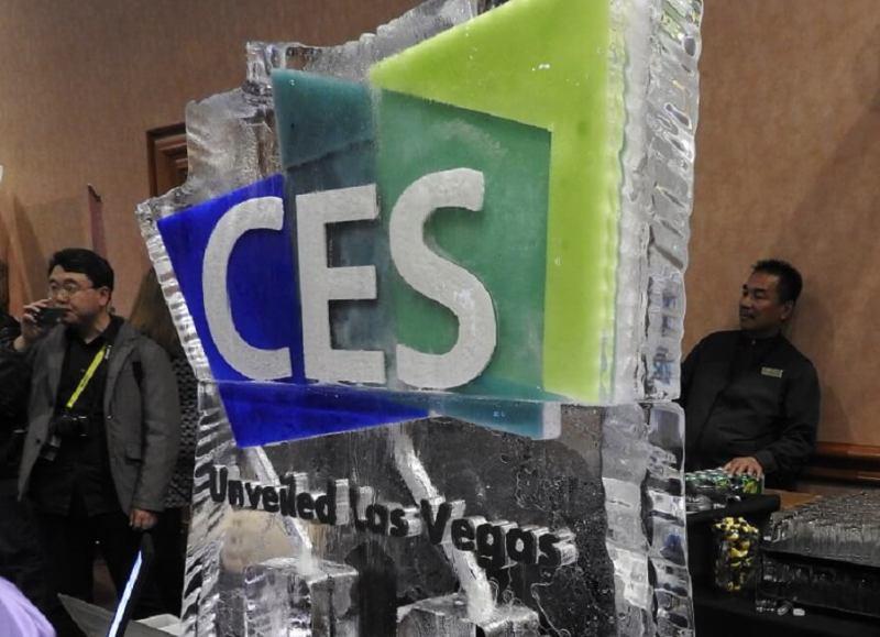 CES 2017 ice sculpture