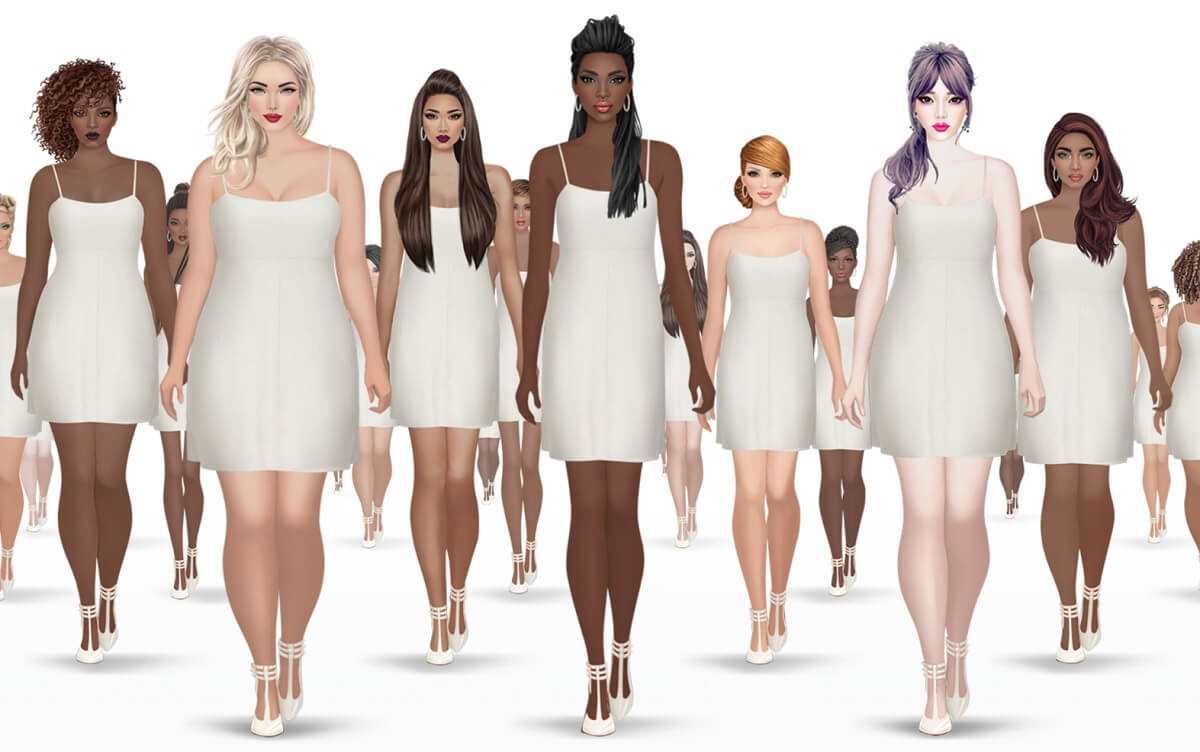 Covet Fashion Mobile Game Adopts Diverse Female Body Shapes For Its Models Gamesbeat