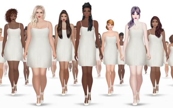 covet fashion mobile game adopts diverse female body shapes for its models venturebeat. Black Bedroom Furniture Sets. Home Design Ideas